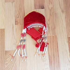 Nepali queen crown costume with lots of beads